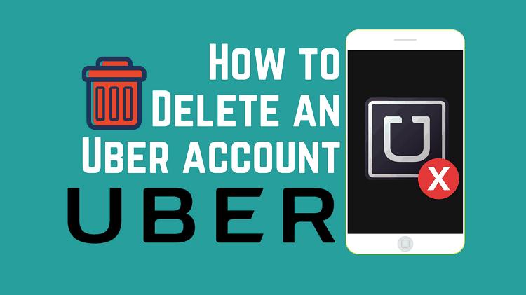 Delete Uber account app