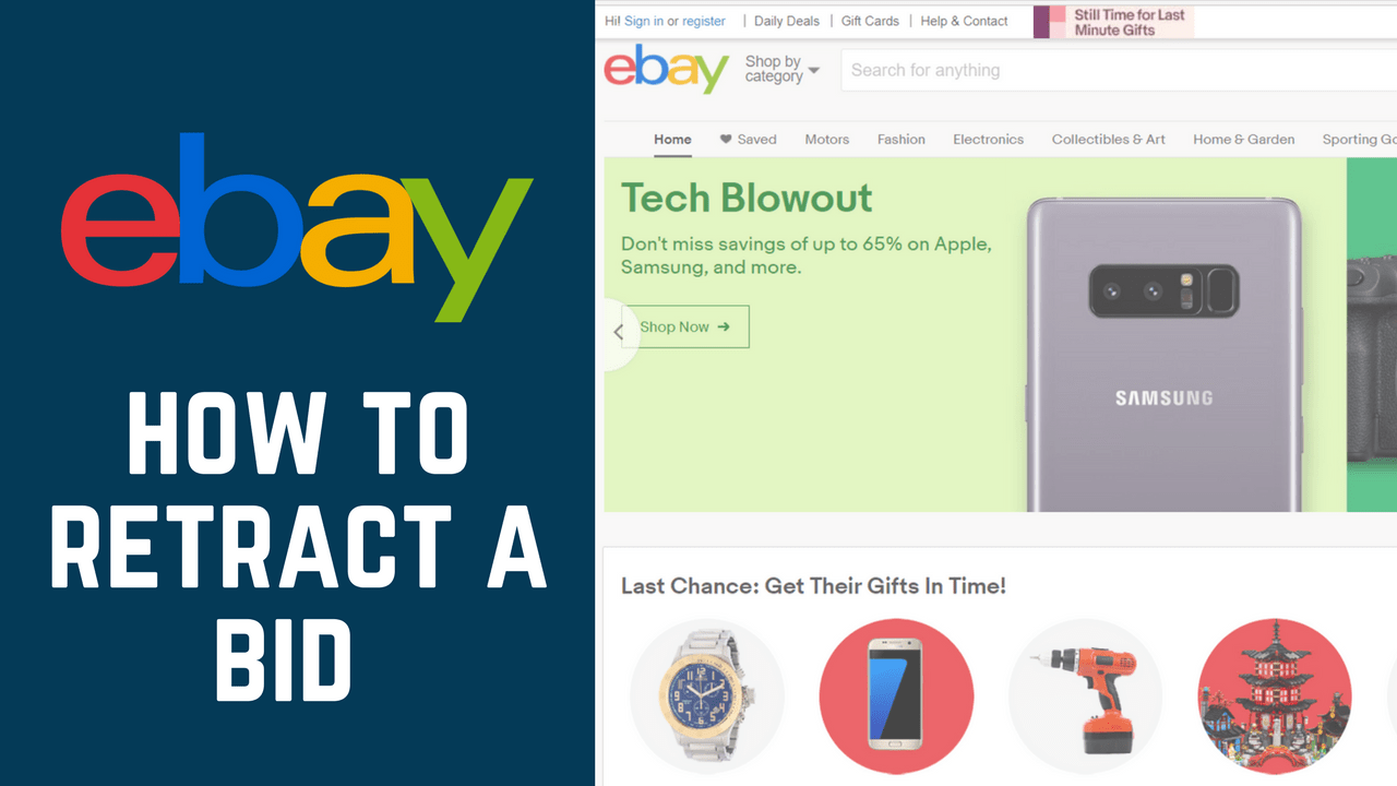 How To Cancel Or Retract A Bid On Ebay Free Tutorial At Techboomers