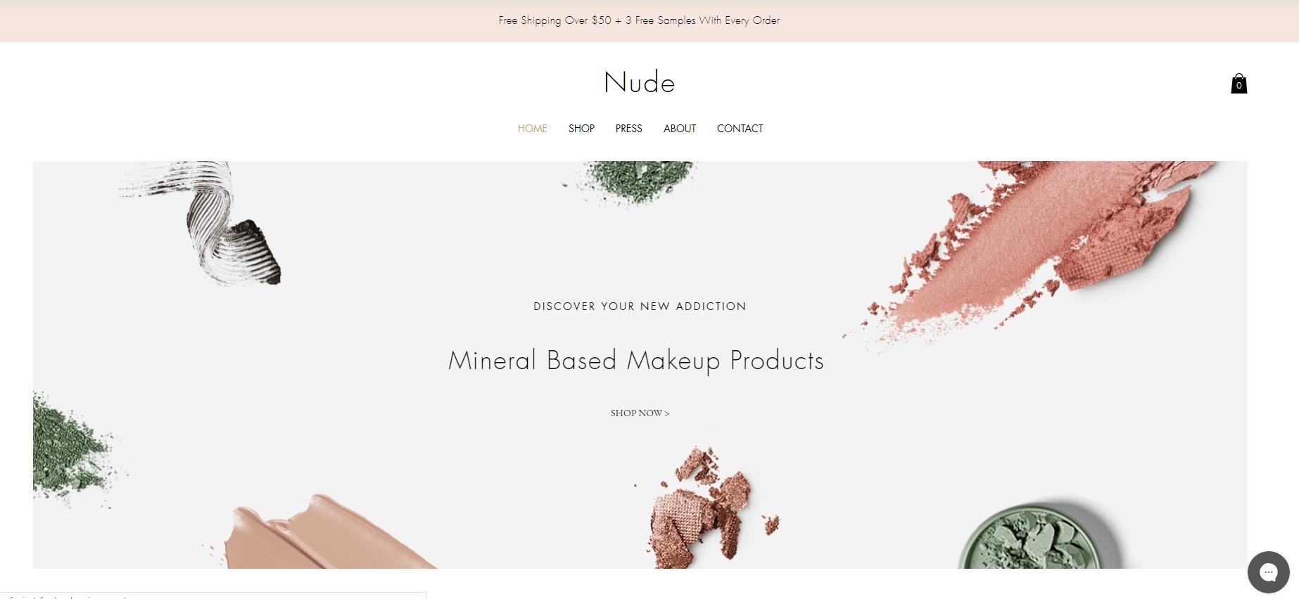Sample of an online store website template