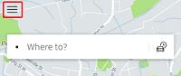 Uber app menu button