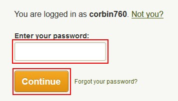 Continue with subscription cancelation by entering password