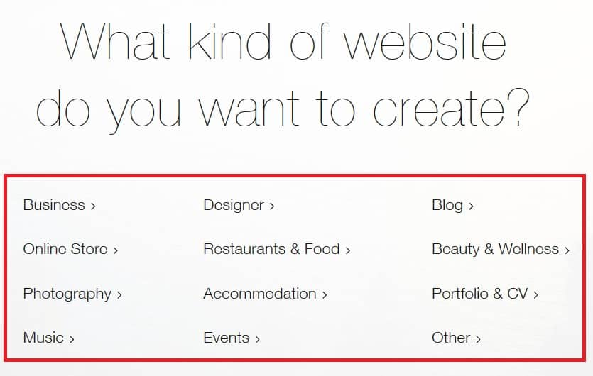 Choosing a theme for your Wix website