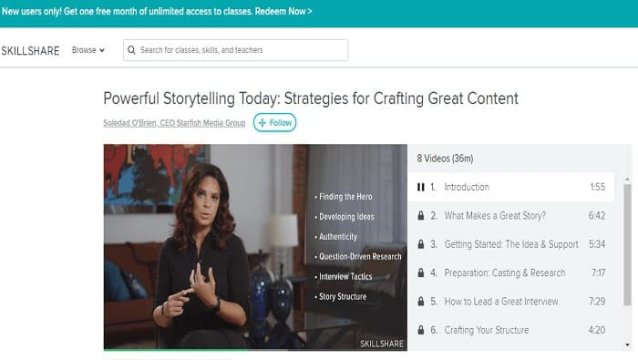Skillshare screenshot