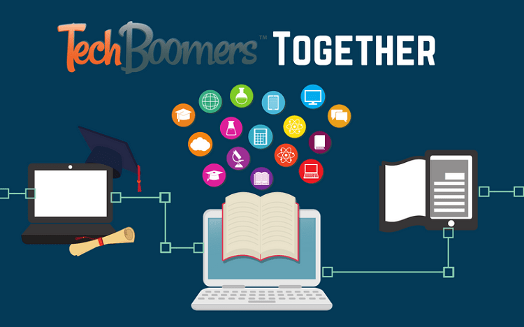 TechBoomers Together Digital Literacy Program header