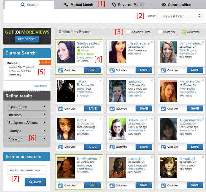 match free search