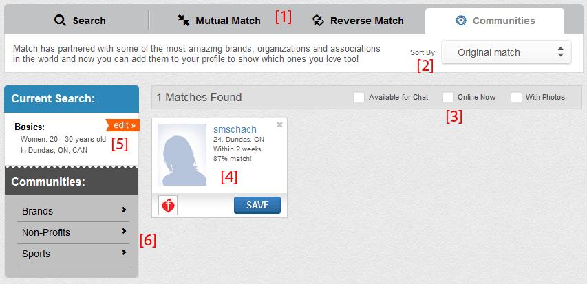 Match com hidden profile