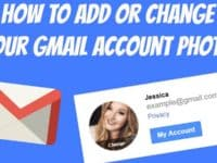 How to change Gmail photo header