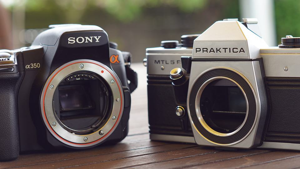 Brand-name cameras, like Sony
