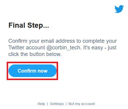 Verify you have control over the new email address