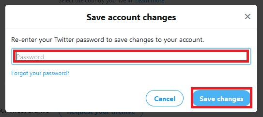 Confirm settings changes by entering your account password