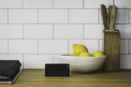 Speaker in kitchen in home