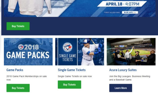 MLB team website
