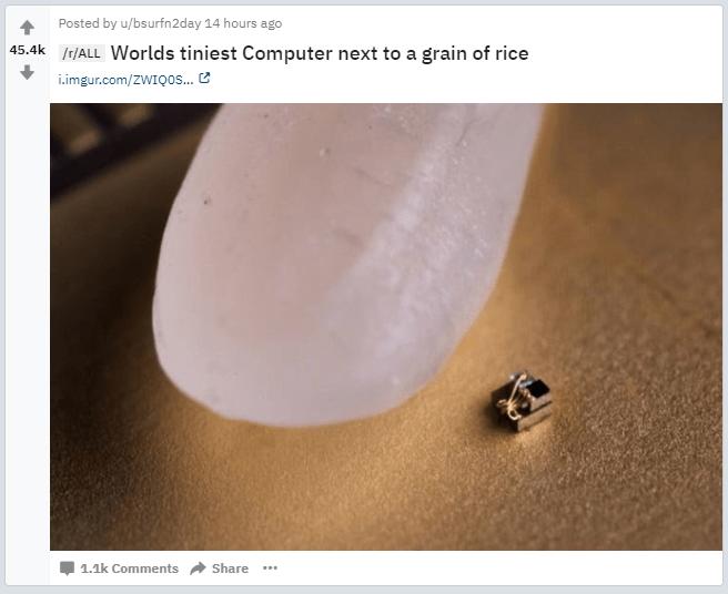 Screenshot of Reddit.com