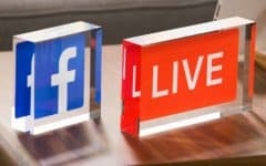 Live streaming on Facebook header