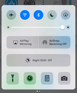 Airdrop control panel