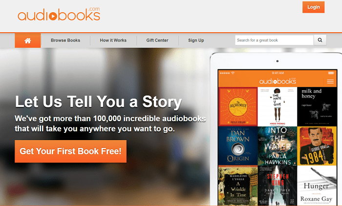 Audiobooks website