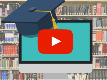 Graduation cap on top of computer screen