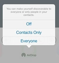Choose Airdrop sharing settings