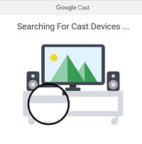 Google Chromecast app on computer