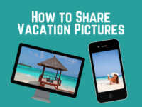 How to Share Spring Break pictures banner