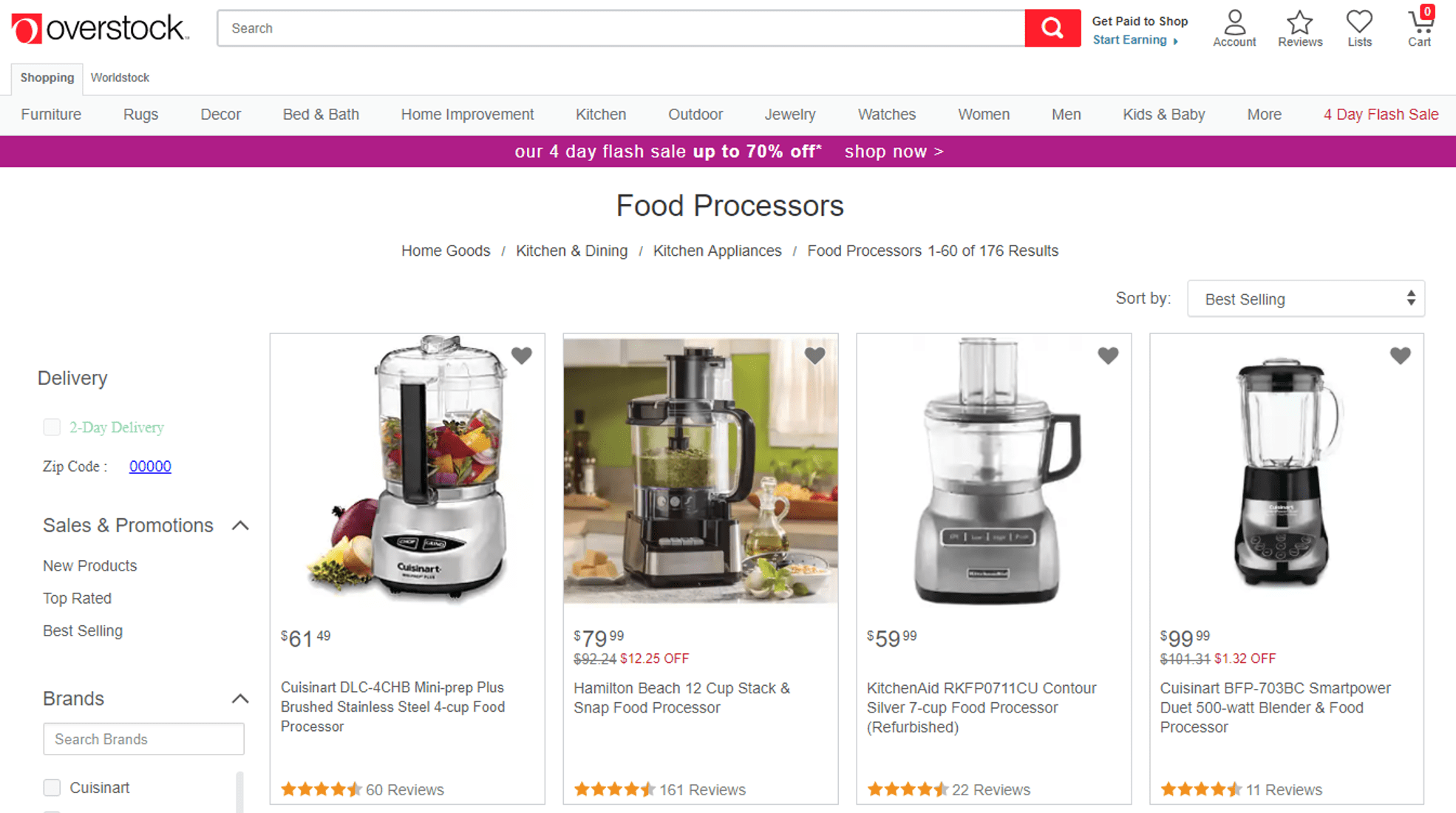 Overstock website