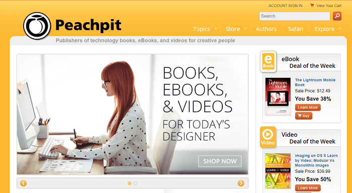 Peachpit website