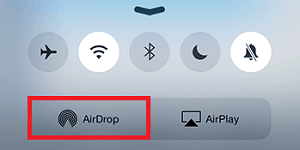 Tap Airdrop on iPad