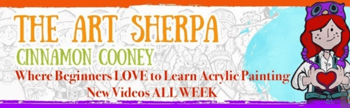 The Art Sherpa banner
