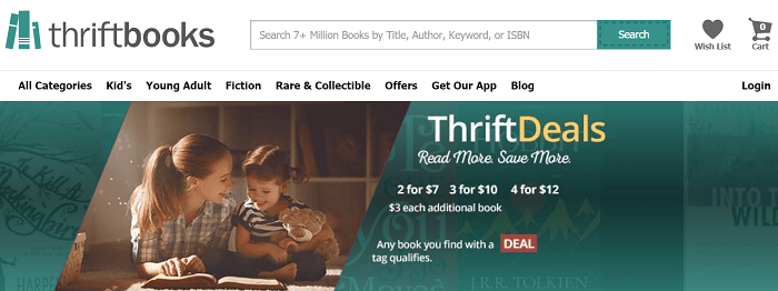 Thriftbooks website
