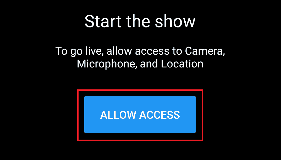 Allow YouTube access to camera and mic