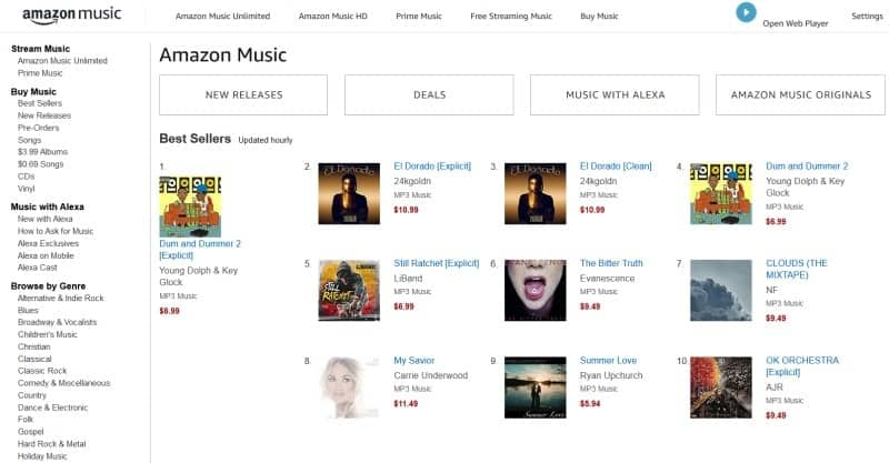 The digital download store for Amazon Music