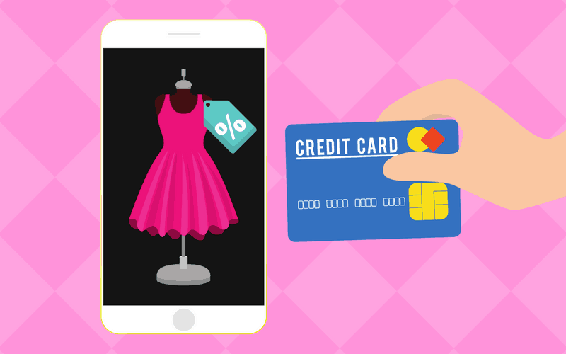 Women's shopping app and credit card