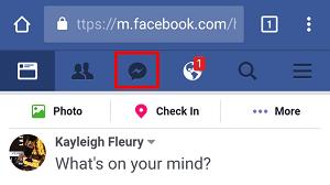 Facebook messages in browser