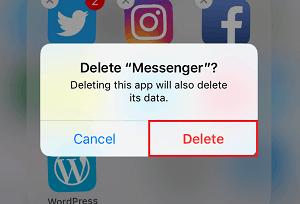 Confirm delete button