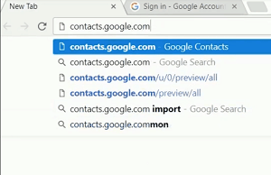 Google Contacts sign in