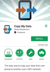 Copy My Data app
