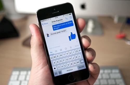 Facebook Messenger on smartphone