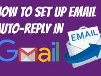 How to set up an auto-reply email in Gmail header