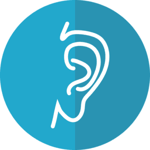 Hearing aid app symbols