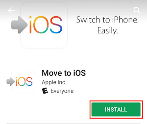 Move to iOS app install page