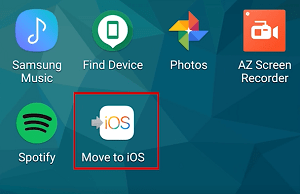 Move to iOS app icon
