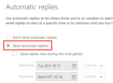 Enable auto-reply on the web
