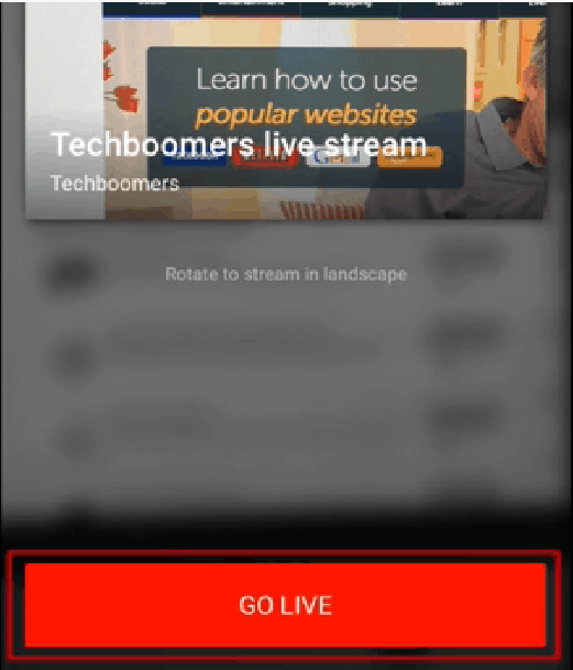 Go live after getting stream thumbnail