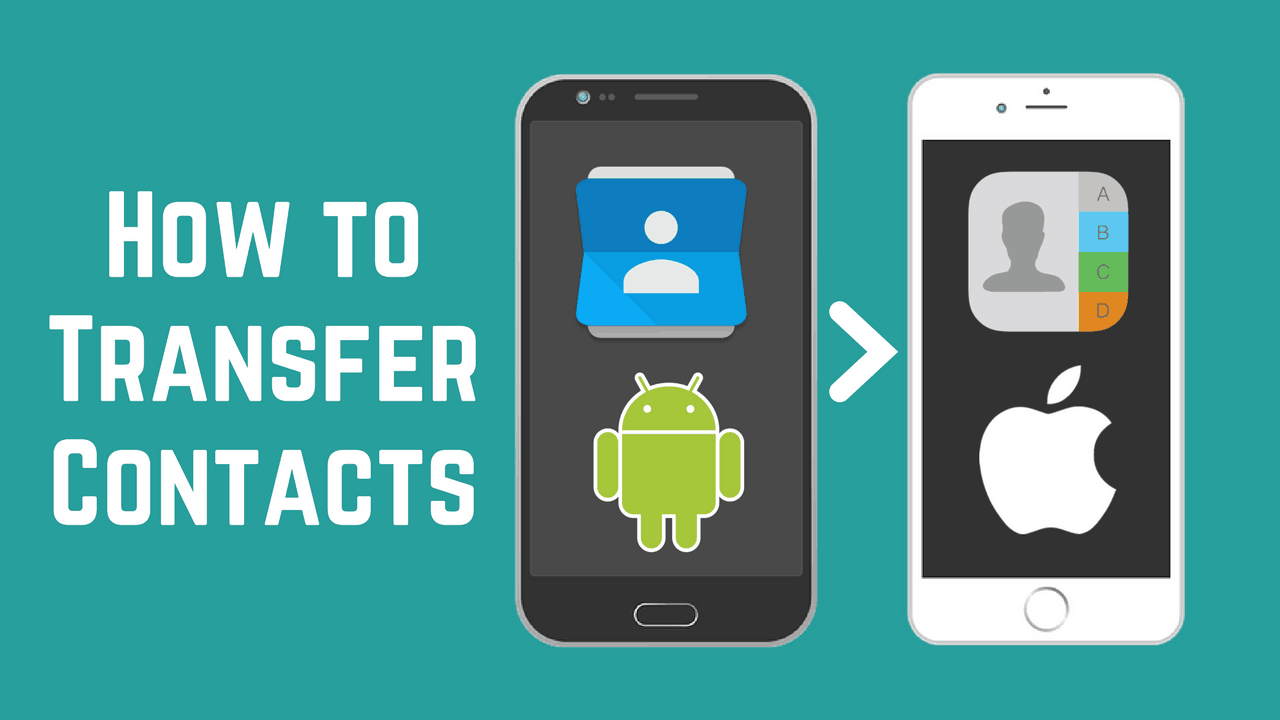 How to transfer contacts from android to iphone in 4 easy ways android iphone contact icons baditri Choice Image