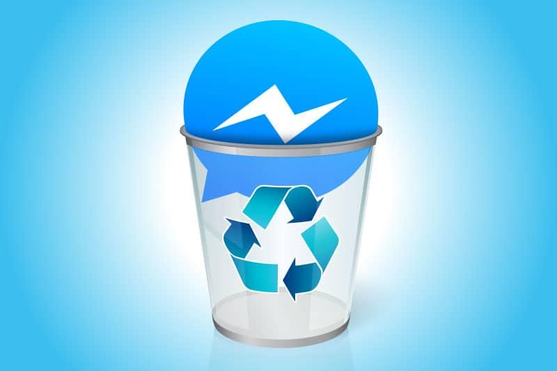 Facebook messenger in trash can