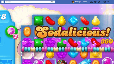 Candy Crush Soda Saga on Facebook