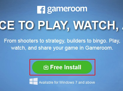 Download the Facebook Gameroom installer
