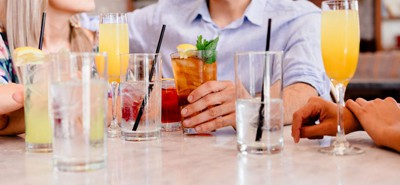 People meeting for drinks at a restaurant or bar