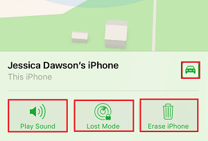 Options for locating device