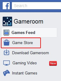 Access Facebook's Game Store